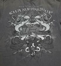 UFC T Shirt Champion Ship Ultimate Fighter Wrestling Gray Size M 100% Cotton