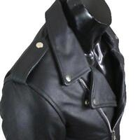 MENS REAL Cow LEATHER BRANDO MORTORBIKE MOTORCYCLE BIKER JACKET All Sizes NEW