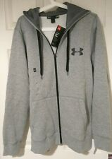 BNWT Under Armour Cold Gear Grey Full Zip Hoodie Jacket Men's Warm Small Sweater