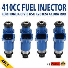For Honda Acura RDX Denso Injector 410cc B16 B18 K20 K24 DC EG EK ITR CTR Type R