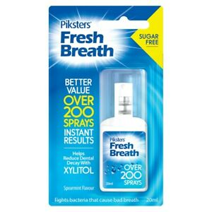 Piksters Fresh Breath 20mL Oral Spray Spearmint Flavour Sugar Free with Xylitol