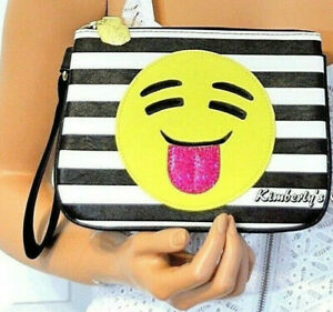 Betsey Johnson Wristlet Bag Phone Case Clutch Black, White, Yellow Purse NWT