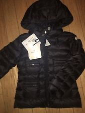 NEW $570 Moncler Girls YEVRE Black Down Puffer Jacket Parka, Size 6A