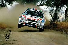 Didier AURIOL WRC Rally DRIVER SIGNED AUTOGRAPH 12x8 Toyota Photo AFTAL COA