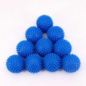Blue Laundry Washing Tumble Dryer Balls Washing Helper Clothes Softener