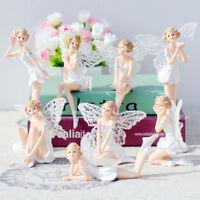 Car Cake Decor Flower Ornaments  White Angel Doll Flying Flower Fairy Garden