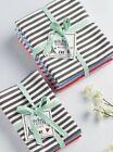 Set of 6 Design Imports PARIS PETITE STRIPE Cotton Dish Towels and Dishcloths