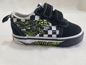 Vans Ward V Dino Bonez Sneaker Shoes Size 6 Black