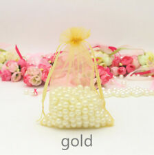100x Gold Organza Pouch Bags Wedding Favours Xmas Gift Commercial Packaging Bags