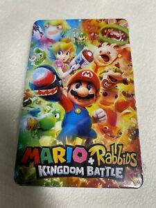 Mario + Rabbids Kingdom Battle Steelbook Case, ((No Game)) (Switch) New & Sealed