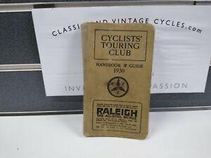 Vintage 1930's Pre-War CTC Cyclist Touring Club Handbook & Guide