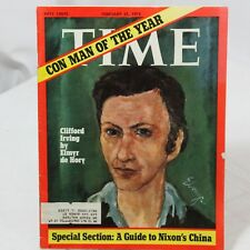 Time Magazine February 21, 1972 Con Man of the year Nixon's China