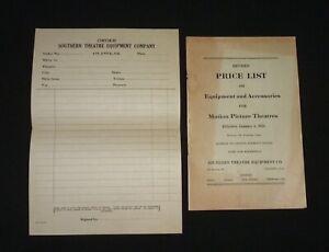 1925 Motion Picture Theatres Equipment & Accessories Price List - Atlanta, Ga.