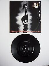 "DAVID BOWIE Scary monsters uk 1981 7"" vinyle single label mis-presse Townhouse EXC"