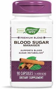 Nature's Way BLOOD SUGAR MANAGER Herb Metabolism Blend w/ Gymnema Cinnamon 90 ct
