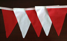 Fabric Bunting  Red & White Wedding Party, Decoration celebration 2 mtr lengths
