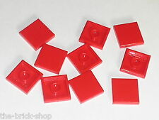 Lot 10 tiles red 2 x 2 ref 3068b LEGO rouge / 956 7822 8156 4896 8142 8143 6097