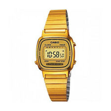 Casio LA670WGA-9D Womens Gold Tone Digital Watch Digital Retro Alarm Chronograph