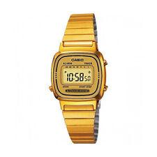 Casio LA670WGA-9D Womens Gold Tone Digital Watch Digital Retro Alarm Chronograph