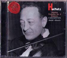 Jascha HEIFETZ: GLAZUNOV PROKOFIEV SIBELIUS Violin Concerto MUNCH HENDL RCA CD