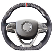 100% Real Carbon Fiber/Leather Steering Wheel For Jeep Grand Cherokee