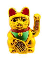 Enorme Chat Japonais 35 cm Porte Bonheur Doré Richesse Maneki Neko 208