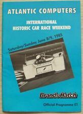 BRANDS HATCH 8/9 Jun 1985 INTERNATIONAL HISTORIC CAR RACE WEEKEND A4 Programme