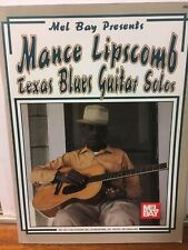 Mance Lipscomb - Texas Blues Guitar Solos, Sheet Music Songbook