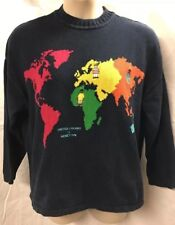 Gorgeous, United Colors Of Benetton, Vintage cotton, Pullover Sweater, Large