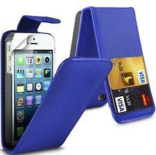 FLIP Cover Custodia Pelle con Card Slot & Clip per Apple iPhone 4 / 4S / 5 / 5S / 6 / 6S UK
