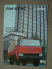 Prospectus Camion FIAT 80 NC  Catalogue  brochure  prospekt truck LKW