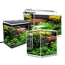Aquarium Fish Tank Nano LED Light Complete Set Filter Pump 16L 30L 39L 52L 64L