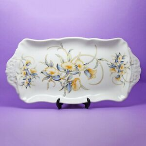 Aynsley 'Just Orchids' Sandwich Plate / Tray England C1955+ England
