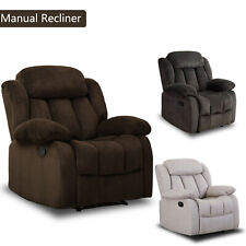 "Overstuffed Manual Recliner Chair 23""W Padded Seat Living Room Lounge Sofa Adult"