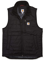 CARHARTT Mens Gilliam Insulated Vest 102286 Water Repellant Size L - Black