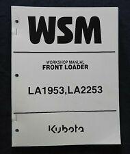 "KUBOTA M100X M110X M126X M135X TRACTOR ""LA1953 LA2253 LOADER"" REPAIR MANUAL NICE"