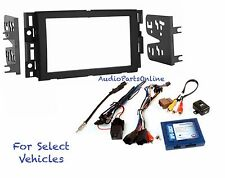 Double Din Car Radio Dash Kit Combo Onstar w/+w/o Bose- retain Steering Controls