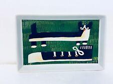 "West Elm Collectors Editions Dog & Shoe Ceramic Tray Plate Mizuki Goto 9"" x 6"""