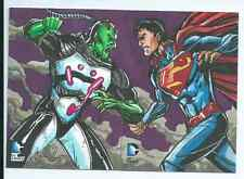 Cryptozoic DC Epic Battles 2 panel sketch card Chris Meeks