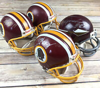 Lot of 4 Autographed Signed Washington Redskins Riddell Mini Helmets Jurgensen
