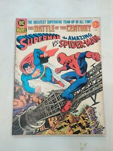 DC AND MARVEL SUPERMAN VS SPIDERMAN TREASURY EDITION LOWER GRADE