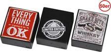 1 x Zigarettenbox XXL  Box farbig sortiert 50er stabilem Kunststoff Sprungdeckel