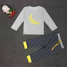 Baby Boys Girls T-shirt Tops+Pants Outfits Clothes Set Toddler Newborn Suit