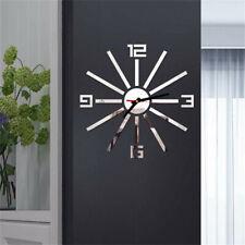 3D DIY Roman Numbers Acrylic Mirror Wall Sticker Clock Home Mural DecalsDA