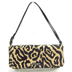 Kate Spade Shoulder bag Beige Black Woman Authentic Used Y6005