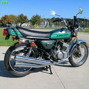 Kawasaki S3 400 Triple 1975 S3a Decal set Green - The BEST!