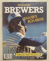 1980 MILWAUKEE BREWERS YEARBOOK BAMBI YOUNT MOLITOR HISLE COOPER  THOMAS
