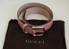 7822e271e72f1 GUCCI Damen Original Gürtel Echtes Guccissima - Leder rosa Größe 90