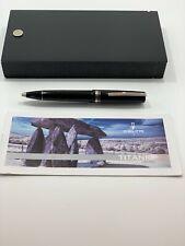 Delta Titanio Black Titanium Ballpoint Pen With Presentation Box