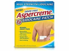 3 Pack Aspercreme Lidocaine Maximum Strength Patch Odor Free 5 patches Each